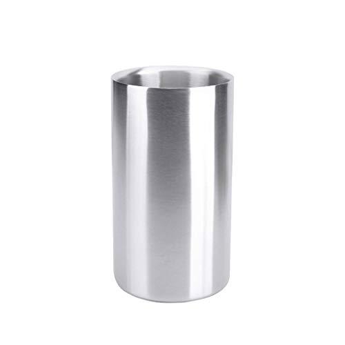 Cubo de hielo de acero inoxidable engrosado cubo de hielo portátil cubo de hielo cubo de champán cubo de bebidas actividades de fiesta y vajilla de camping tina de bebidas