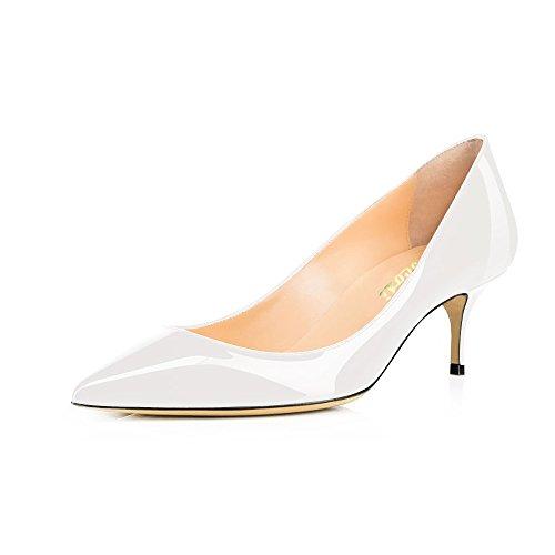 COLETER Pointe Zapatos de charol Sandalias de vestir de cuero