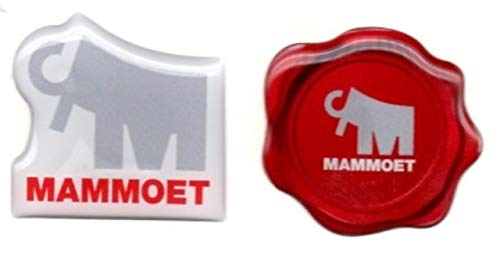 Mammoet logo 2 Sticker Bundle. Hardhat/Decals. Great for the Roughneck, Oil Worker, Construction Worker. Looks great on a Helmet, Lunchbox, or Toolbox.