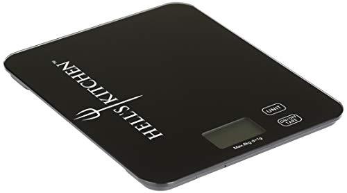 Ohmex Hell's Kitchen HKI-HES-8001- Báscula de cocina con pantalla LCD, unidad de medición a elegir alimentación a pilas.