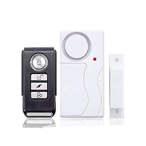 KCCCC Alarma de la Puerta Paquete de 2 Puertas Sensor de Alarma Disparado Ventana Alarma 103dB Sirena Seguridad Entrada de Seguridad para la Seguridad de los niños (Color : White, Size : 2 Pack)