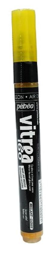 Pebeo Vitrea 160, Glossy Glass Paint Marker - Yellow Sun