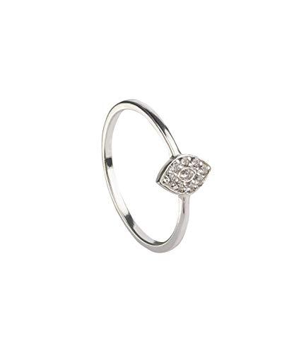 SIX Mit Steinen verzierter Ring aus 925er Silber in Augen-Optik - Größe: 54 (728-866)
