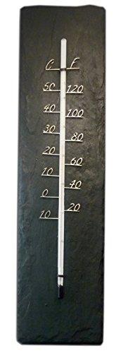 Schiefer Thermometer Garten Innen Außen Natur Schiefer Handgefertigt von Handwerkern und Handwerkern in Großbritannien Vatertagsgeschenk