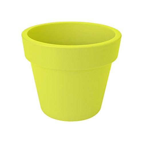 Elho Green Basics Top Planter 30 - bloempot - levendig zwart - buiten 40 cm limoengroen