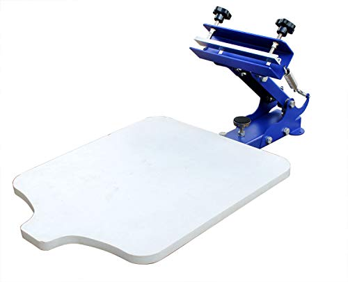 Intbuying 1 color silk screen printing machine fix on table t-shirt...