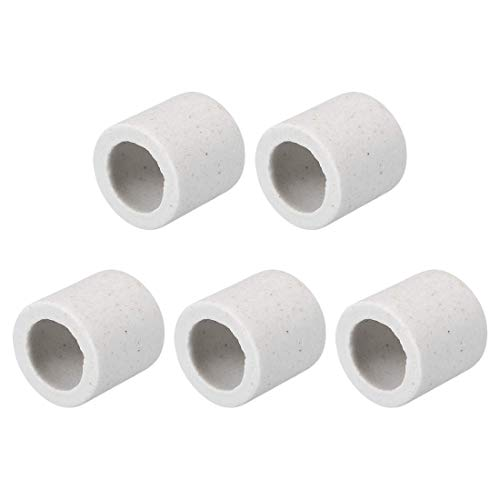 DealMux 10mm Dia Keramik Isolationsrohr Single Bore Aluminiumoxid Porzellan Hochtemperatur-Isolationsrohr für Heizelement 5 Stk
