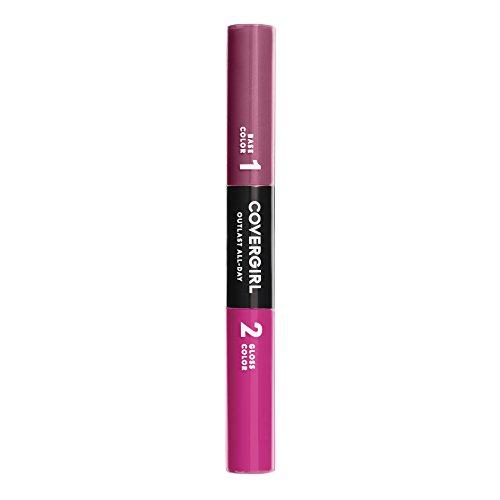 COVERGIRL Outlast All-Day Color & Lip Gloss, Rose Delight, 0.2 Ounce (packaging may vary) Cover Girl Outlast All Day Lip Color