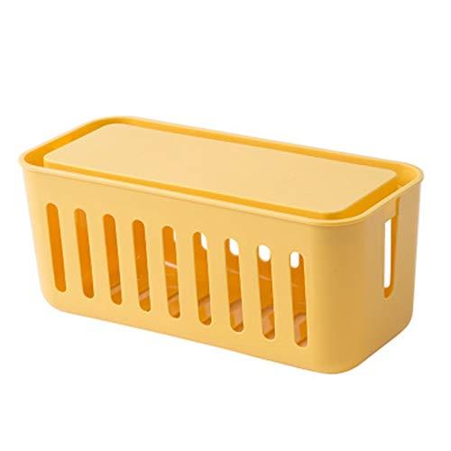 Vobajf Caja para Cables Caja de Almacenamiento de Cable de alimentación Caja de Almacenamiento de Escritorio de plástico Multifuncional Organizador de Cable de Inicio Cable Tidy Box