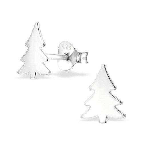 So Chic Joyas - Pendientes Niños árbol Navidad Plata