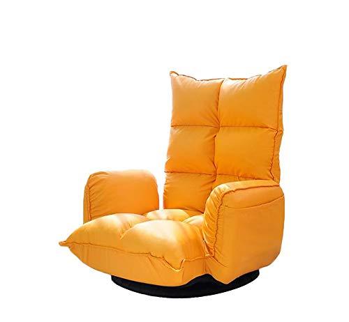 NUANXIN Canapé Paresseux Pliant avec Chaise de Sol coussinée et Balcon de Chaise de Jeu Sofa Lounge,Yellow