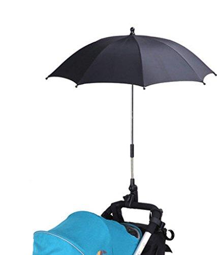 Poussette Parapluie Coque pour protection de soleil et pluie Noir