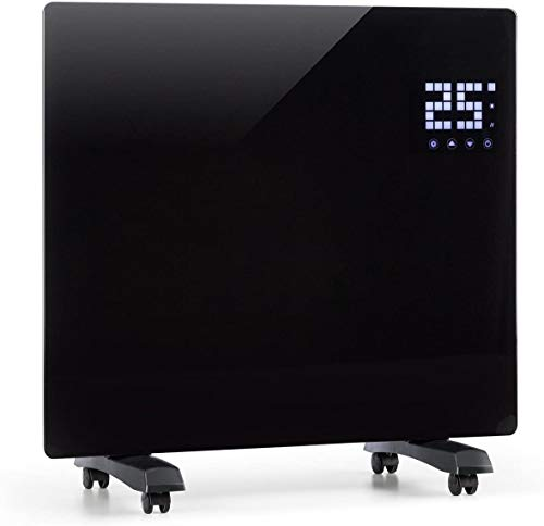 Klarstein Bornholm Single Elektro-Heizung E-Heizung Konvektionsheizgerät Heizgerät (500 oder 1000 Watt, 5-45°C, LED-Touch Display, ECO-Modus, 24 h Timer, Fernbedienung) schwarz
