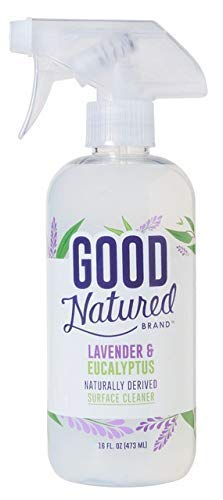 Good Natured Brand Multi-Surface Cleaner Spray, Lavender & Eucalyptus - 16oz - All-Natural, Eco-Friendly, Family and Pet Safe