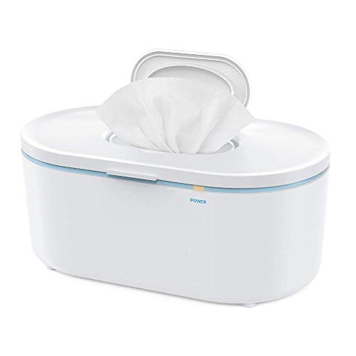 Wipe Warmer, Baby Wipe Warmer, Baby Wet Wipes Dispenser and Diaper Wipe Warmer with Soft Lighting, Large Capacity, Evenly and Quickly Overall Heating, Super Silent