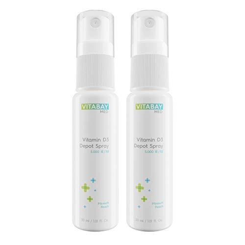 Vitamin D3 Spray 5.000 IE mikronisiert Depot - Nur eine Portion alle 5 Tage - vegan (2 x 30 ml)
