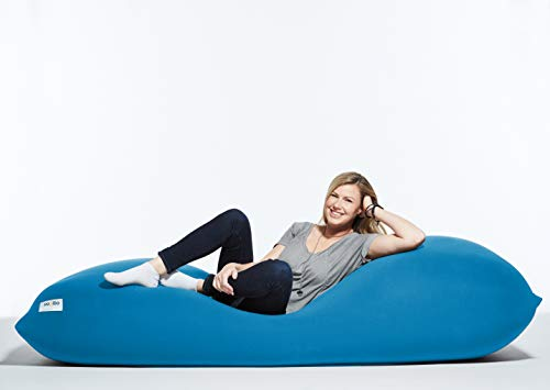 Yogibo Max 6-Foot Beanbag Chair, Bean Bag Couch with a Washable Outer Cover, Customer Favorite Cozy Sofa for Gaming, Reading, and Relaxing, Filled with Soft Micro-Beads, Turquoise