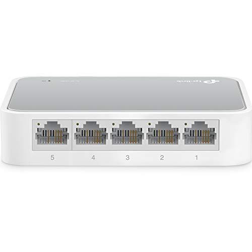 TP-Link TL-SF1005D Switch Desktop, 5 Porte RJ45 10/100 Mbps, Plug & Play