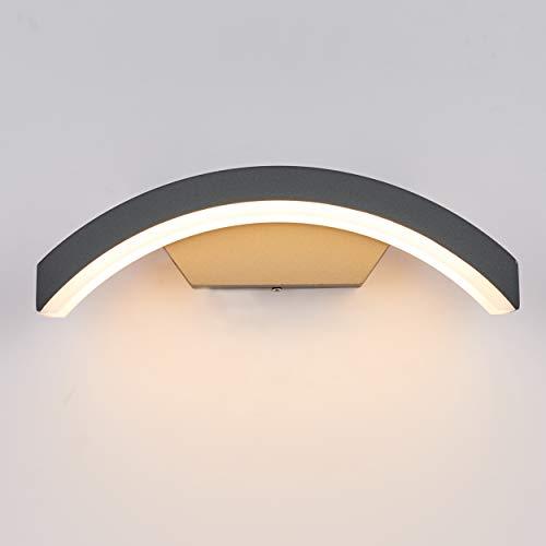 Topmo-plus 24W LED Wandspot außenlampen wandleuchte Aluminium/PC IP65 Wasserdicht Osram SMD/Terasse/Garden/Korridor/Flurbeleuchtung 27CM grau (warmweiß)