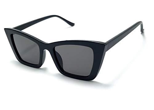 Óculos De Sol Feminino Vintage Olho De Gato Zf-03 (Preto)
