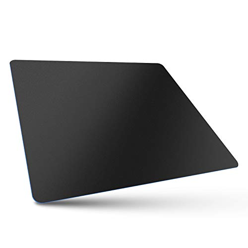 Bitpro LGM Computer Mouse Pad,Plastic Surface,Accurant and Smooth, Healthy Material, Ultra Thin for Laptop, PC and Computer, Medium 11 by 9.4 in Black