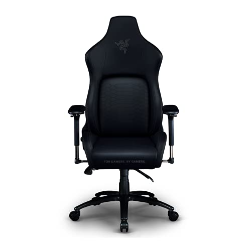 Razer Iskur Gaming-Chair: Ergonomic Lumbar Support System - Multi-Layered Synthetic Leather Foam Cushions - Engineered to Carry - Memory Foam Head Cushion - Black