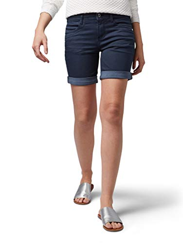 TOM TAILOR Damen Alexa Bermuda, Blau (Sky Captain Blue 10668), 29