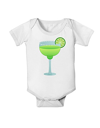 TOOLOUD Green Margarita with Lime - Cinco de Mayo Baby Romper Bodysuit - White - 6 Months