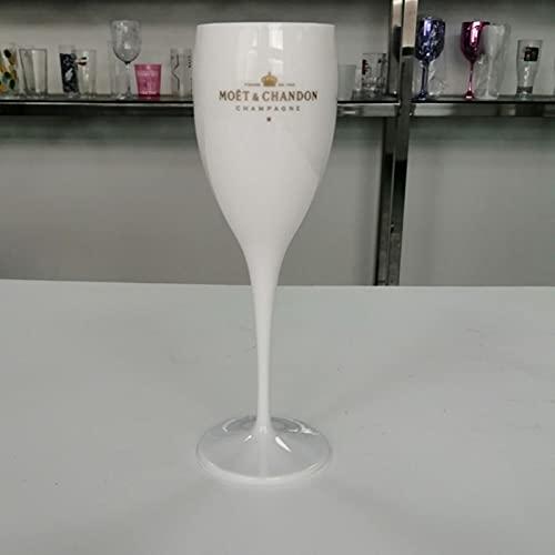 1 taza de copas de champán copas de vino de plástico lavavajillas seguridad acrílico blanco fragante vidrio transparente