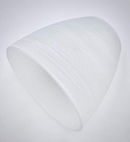 KHL Lampenschirm Lampenglas Ersatzschirm G9 Pendellampe 65mm weiß gewischt KH92739