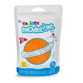 Carioca Set Modelight   Pasta de Modelar Super Ligera y Flexible para Niños y Adultos, 12 Bolsas con Cremallera de 50g con Colores Surtidos