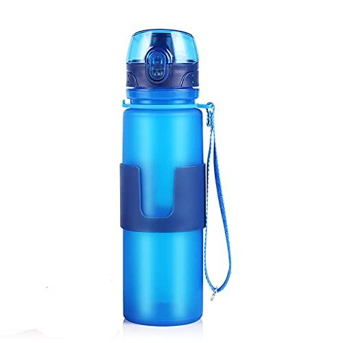 Botellas deportivas 650ml silicona plegable deportes botella de agua plegable bebida agua fitness montar corriendo hervidor de agua camping
