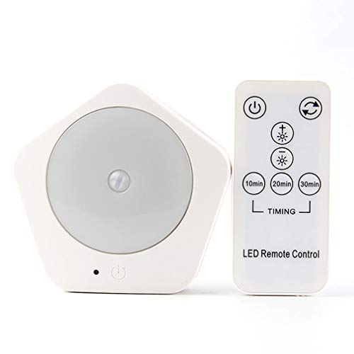 Led-nachtlampje voor aansluiting op de muur, lamp voor kinderen met PIR-bewegingssensor met intelligente afstandsbediening, drie kleurtemperaturen optioneel, voor slaapkamer, hal