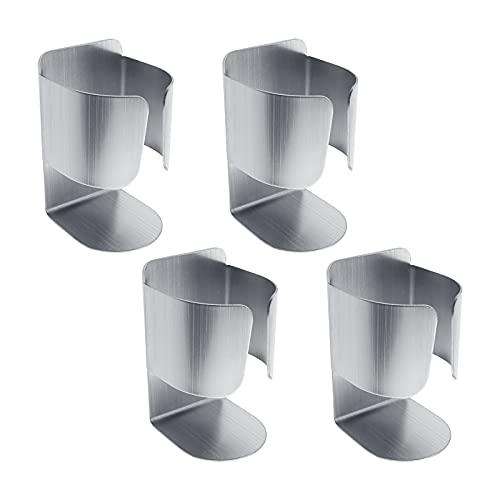 4 soportes para cepillos de dientes eléctricos, montaje en pared, orificio libre, organizador autoadhesivo, 72 x 46,2 x 43 mm