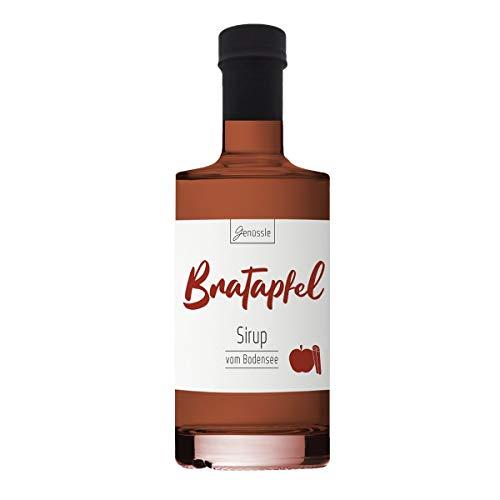Bratapfel-Sirup 350ml - Genüssle Apfelsirup vom Bodensee - Bratapfel Sirup - Äpfel vom Bodensee - natürlich ohne Zusatzstoffe, Größe:350 ml