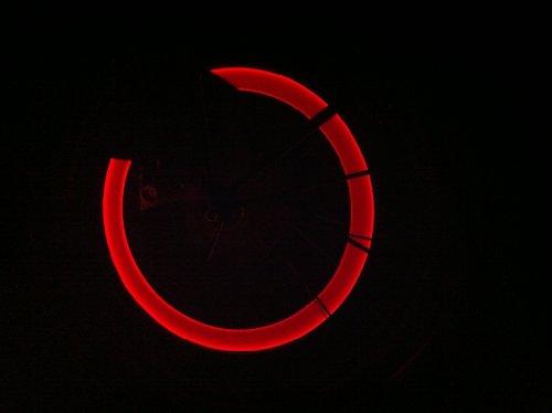 RBrothersTechnologie 2 Stück LED Ventilkappen Radbeleuchtung Licht Felgenlicht Tuning Auto ROT