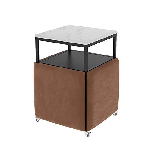 YANGYUAN Plaza Negociación de 5 Piezas Moderna Mesa de Mesa de Mesa Combinación de recepción de Tela de café sofá sofá Asiento Oficina Mesa de Mesa y Silla (Color : E)
