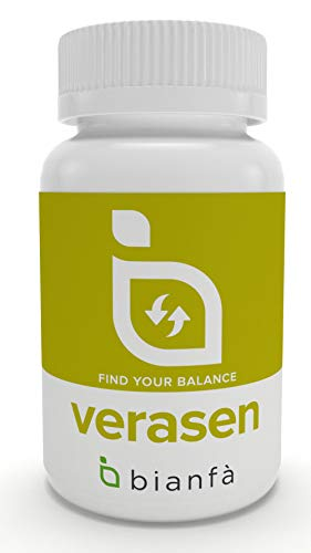 Verasen, Laxante Natural para el estreñimiento ocasional. 90 capsulas de 500mg. Aloe Vera, Boldo, Sen.
