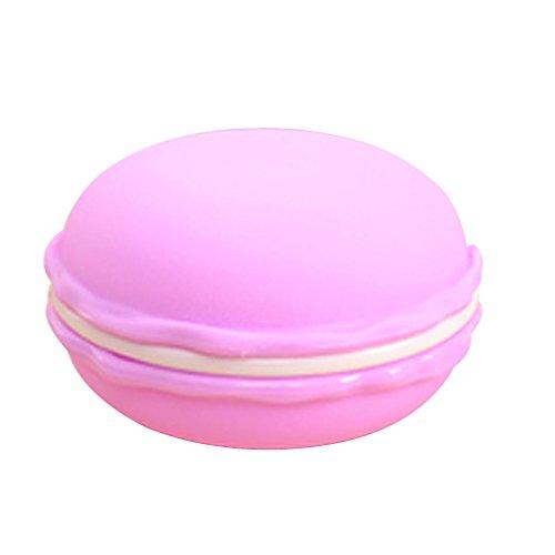 Amybria–Mini scatola per pillole, gioielli, orecchini, collana, a forma di macaron, plastica, Purple Big, Grande