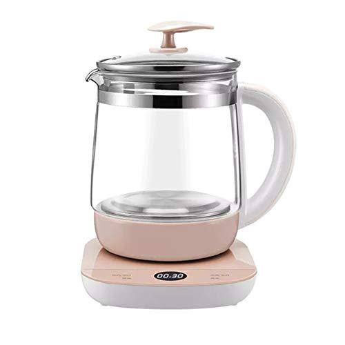 KangHan potje voor gezondheid, waterkoker, dessert, soep, thee, glas, theepot, elektrisch, roze, 800 W