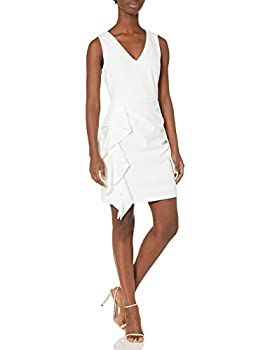 Adrianna Papell Women s Ruffled Crepe Cocktail Dress Ivory 2