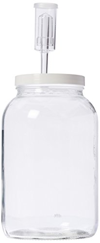 Home Brew Ohio One Gallon Wide Mouth Jar with Lid and Econolock (Set of 2)