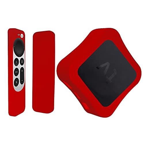 Heroicn Silikon-Schutzhülle für 2021 New Appl TV 4K 6. Fernbedienung, leichte Stoßfest Anti-Rutsch-Stoßdämpfung Waschbare Siri-Fernbedienung (Color : A)