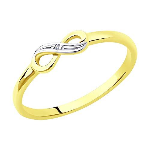 Sokolov Mujer 14 k (585) oro amarillo 14 quilates (585) redondo incoloro Diamond