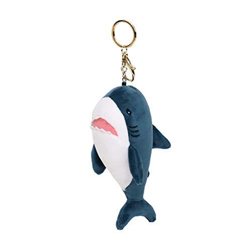 Yosemite Llavero colgante creativo de peluche suave perfumado tiburón de dibujos animados bolsa colgante llavero llavero llavero titular para regalo de cumpleaños niño