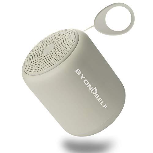 BYONDSELF - Altavoz Bluetooth portátil, mini altavoz inalámbrico de bajos reforzados con autonomía de 12 horas ( 5 m)