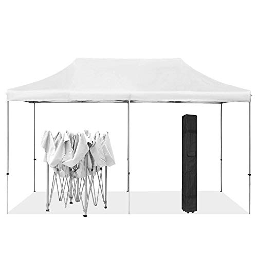 HYD-Parts Outdoor Patio 10x20 Ft Pop up Canopy Tent Gazebo for Beach Party Wedding (10x20 Ft, White)