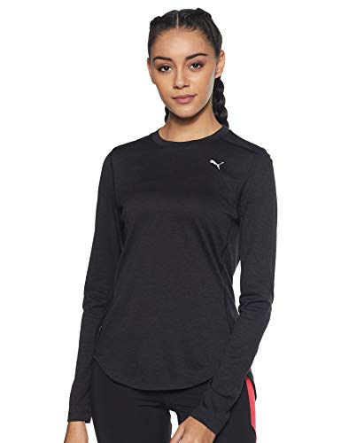 PUMA Ignite Damen Langarm-Shirt Puma Black Heather M