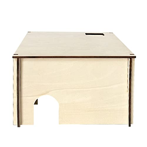 IRYNA - Casetta per criceti con 3 camere a forma di coniglietto in legno, per gerbilli, orsi, porcellini d'India, piccoli animali domestici