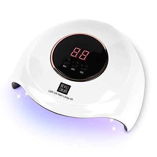 Lámpara LED UV Uñas- 48W Lámpara Secador de Uñas LED UV, Con Sensor Automático y Pantalla LCD, Para Manicura/Pedicura Nail Art en el Hogar ect. Meilo